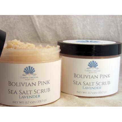 Bolivian Pink Sea Salt Scrub - Lavender