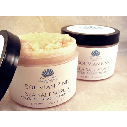 Bolivian Pink Sea Salt Scrub - Crystal Coast Morning